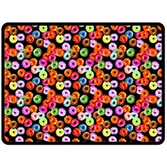 Colorful Yummy Donuts Pattern Fleece Blanket (large)  by EDDArt
