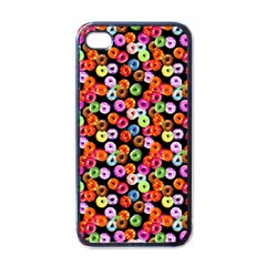 Colorful Yummy Donuts Pattern Apple Iphone 4 Case (black)
