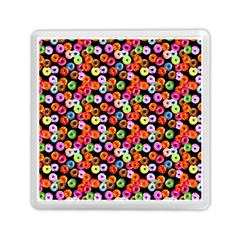 Colorful Yummy Donuts Pattern Memory Card Reader (square)  by EDDArt