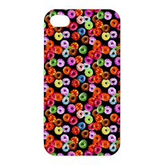 Colorful Yummy Donuts Pattern Apple Iphone 4/4s Hardshell Case by EDDArt
