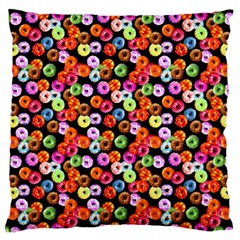 Colorful Yummy Donuts Pattern Large Cushion Case (two Sides) by EDDArt