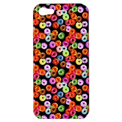 Colorful Yummy Donuts Pattern Apple Iphone 5 Hardshell Case by EDDArt