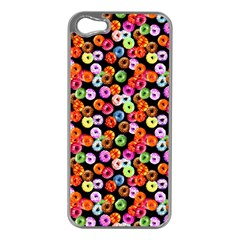 Colorful Yummy Donuts Pattern Apple Iphone 5 Case (silver) by EDDArt