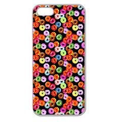 Colorful Yummy Donuts Pattern Apple Seamless Iphone 5 Case (clear) by EDDArt