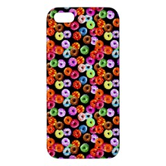 Colorful Yummy Donuts Pattern Apple Iphone 5 Premium Hardshell Case by EDDArt