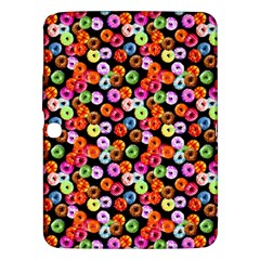 Colorful Yummy Donuts Pattern Samsung Galaxy Tab 3 (10 1 ) P5200 Hardshell Case  by EDDArt