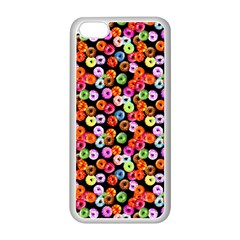 Colorful Yummy Donuts Pattern Apple Iphone 5c Seamless Case (white) by EDDArt