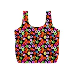 Colorful Yummy Donuts Pattern Full Print Recycle Bags (s)