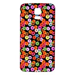 Colorful Yummy Donuts Pattern Samsung Galaxy S5 Back Case (white)