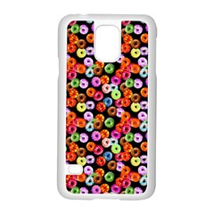 Colorful Yummy Donuts Pattern Samsung Galaxy S5 Case (white)
