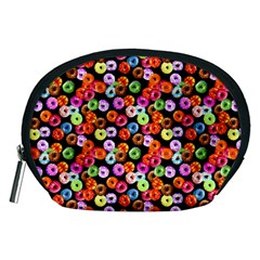 Colorful Yummy Donuts Pattern Accessory Pouches (medium)  by EDDArt