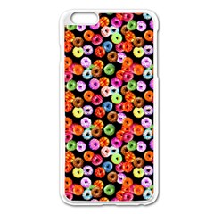 Colorful Yummy Donuts Pattern Apple Iphone 6 Plus/6s Plus Enamel White Case
