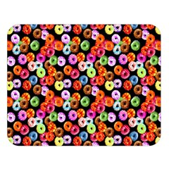 Colorful Yummy Donuts Pattern Double Sided Flano Blanket (large)