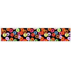 Colorful Yummy Donuts Pattern Flano Scarf (large) by EDDArt