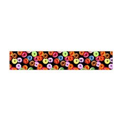 Colorful Yummy Donuts Pattern Flano Scarf (mini) by EDDArt