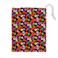 Colorful Yummy Donuts Pattern Drawstring Pouches (extra Large) by EDDArt