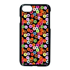 Colorful Yummy Donuts Pattern Apple Iphone 7 Seamless Case (black) by EDDArt