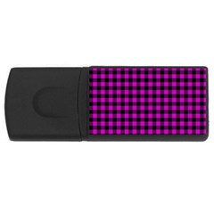Lumberjack Fabric Pattern Pink Black Usb Flash Drive Rectangular (4 Gb)
