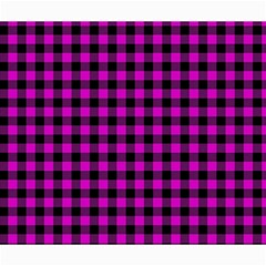 Lumberjack Fabric Pattern Pink Black Canvas 20  X 24   by EDDArt