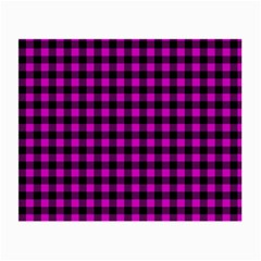 Lumberjack Fabric Pattern Pink Black Small Glasses Cloth (2 Side)