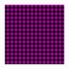 Lumberjack Fabric Pattern Pink Black Medium Glasses Cloth (2 Side) by EDDArt