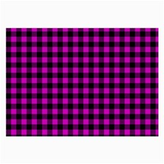 Lumberjack Fabric Pattern Pink Black Large Glasses Cloth (2-side) by EDDArt