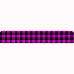 Lumberjack Fabric Pattern Pink Black Small Bar Mats by EDDArt