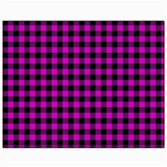 Lumberjack Fabric Pattern Pink Black Canvas 11  X 14   by EDDArt
