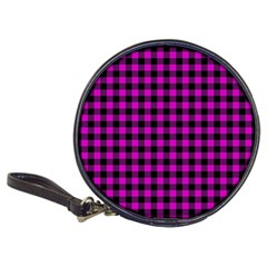 Lumberjack Fabric Pattern Pink Black Classic 20 Cd Wallets