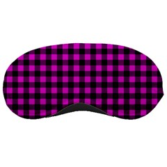 Lumberjack Fabric Pattern Pink Black Sleeping Masks