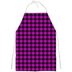 Lumberjack Fabric Pattern Pink Black Full Print Aprons by EDDArt