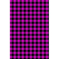 Lumberjack Fabric Pattern Pink Black 5 5  X 8 5  Notebooks by EDDArt