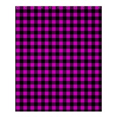 Lumberjack Fabric Pattern Pink Black Shower Curtain 60  X 72  (medium)  by EDDArt