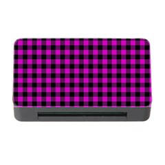 Lumberjack Fabric Pattern Pink Black Memory Card Reader With Cf by EDDArt