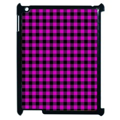 Lumberjack Fabric Pattern Pink Black Apple Ipad 2 Case (black) by EDDArt