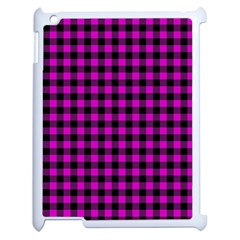Lumberjack Fabric Pattern Pink Black Apple Ipad 2 Case (white) by EDDArt