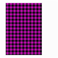 Lumberjack Fabric Pattern Pink Black Small Garden Flag (two Sides)