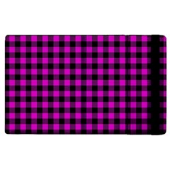 Lumberjack Fabric Pattern Pink Black Apple Ipad 3/4 Flip Case