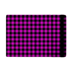 Lumberjack Fabric Pattern Pink Black Apple Ipad Mini Flip Case