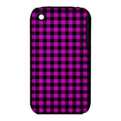 Lumberjack Fabric Pattern Pink Black Iphone 3s/3gs by EDDArt