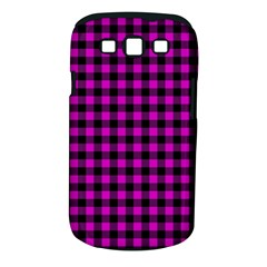 Lumberjack Fabric Pattern Pink Black Samsung Galaxy S Iii Classic Hardshell Case (pc+silicone)
