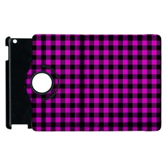 Lumberjack Fabric Pattern Pink Black Apple Ipad 3/4 Flip 360 Case by EDDArt