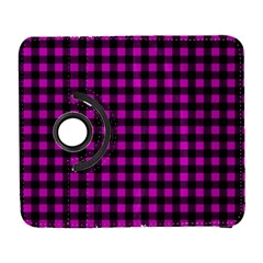 Lumberjack Fabric Pattern Pink Black Galaxy S3 (flip/folio) by EDDArt