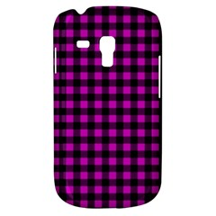 Lumberjack Fabric Pattern Pink Black Galaxy S3 Mini