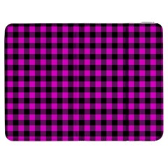 Lumberjack Fabric Pattern Pink Black Samsung Galaxy Tab 7  P1000 Flip Case by EDDArt