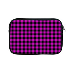Lumberjack Fabric Pattern Pink Black Apple Ipad Mini Zipper Cases by EDDArt
