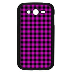 Lumberjack Fabric Pattern Pink Black Samsung Galaxy Grand Duos I9082 Case (black)
