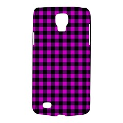 Lumberjack Fabric Pattern Pink Black Galaxy S4 Active