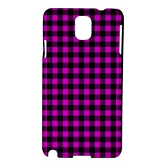 Lumberjack Fabric Pattern Pink Black Samsung Galaxy Note 3 N9005 Hardshell Case by EDDArt