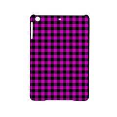Lumberjack Fabric Pattern Pink Black Ipad Mini 2 Hardshell Cases by EDDArt